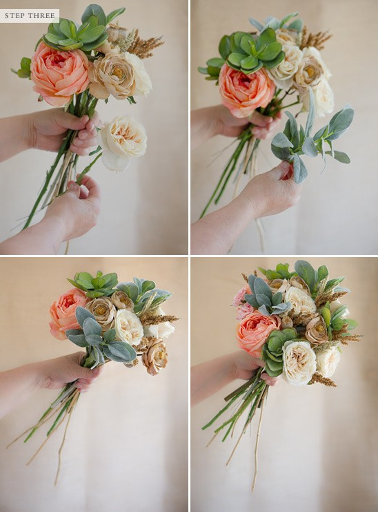 Wedding DIY Tip: Make Your Own Bridal Bouquet From Faux Flowers