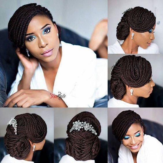 Wedding Hairstyles With Box Braids: 14 Creative Ways To Style Box Braids For Your Wedding