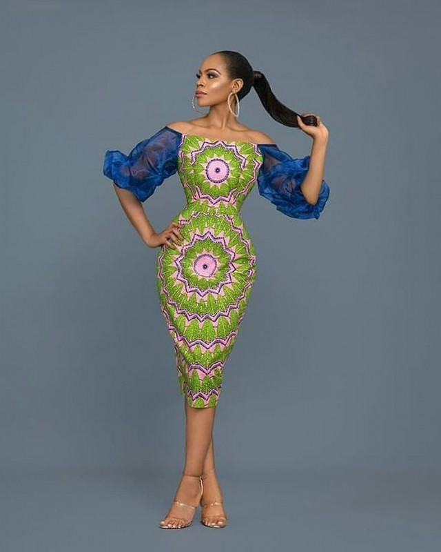 0665cbc4f28b8 Now this is an Ankara dress we need for a wedding ASAP. Halter neck with  white ruffles