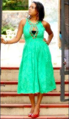Peridot and Ruby Keyhole Dress