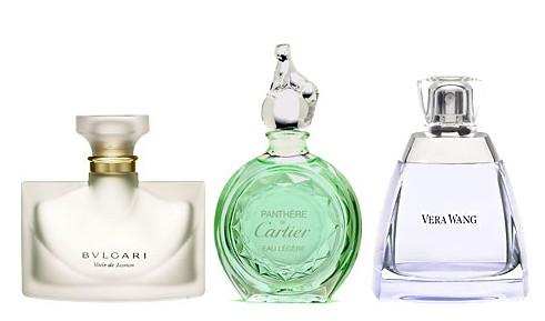 Voile de Jasmin (Bvlgari), Panthere eau Legere (Cartier), Sheer Veil (Vera Wang)