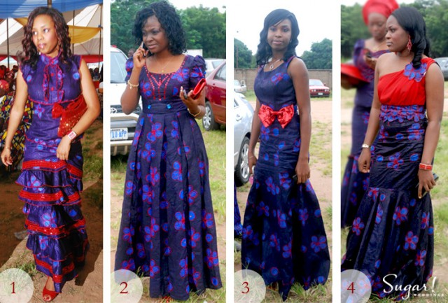 Aso Ebi Face Off Red Haute And Blue
