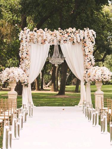 Outdoor wedding inspiration for nigerian brides sugar weddings modwedding junglespirit Images