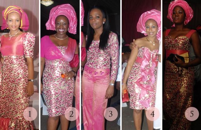 Aso-ebi faceoff: Pink Petal Power