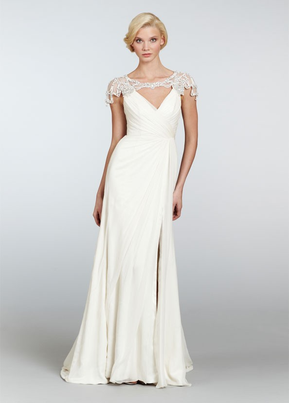 Fresh lively and confident haley paige 2013 dresses for Silk georgette wedding dress