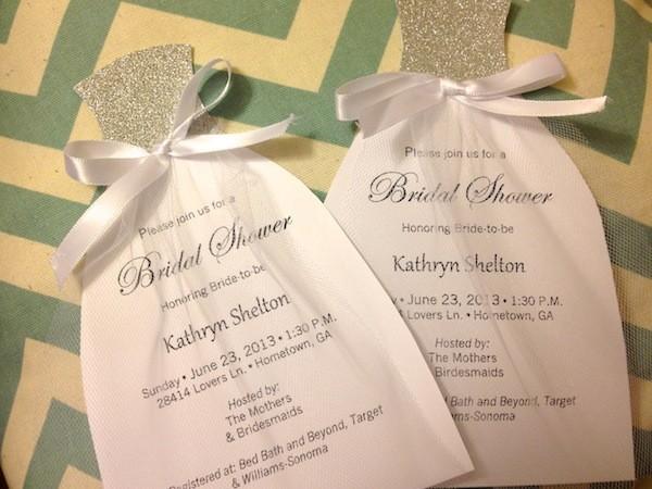 Diy Bridal Shower Invitations Sugar