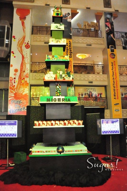 Tosan Jemide Unveils The Tallest Cake In Africa