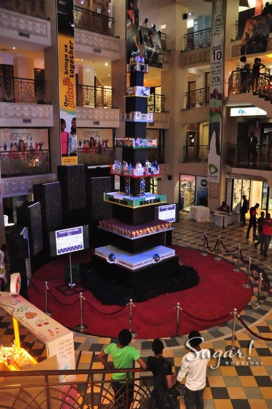 Tosan Jemide Unveils The Tallest Cake In Africa Sugar