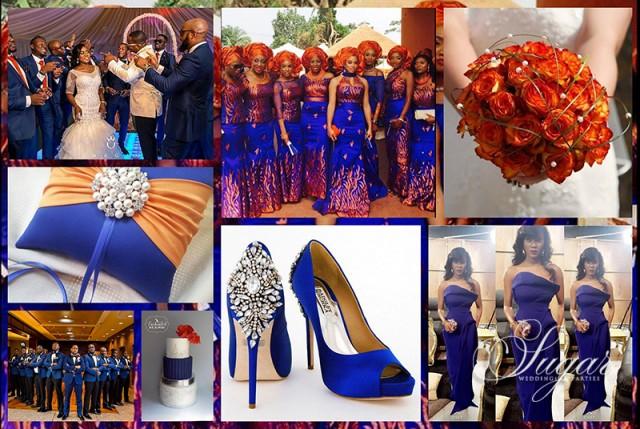 Wedding Colour Inspiration Blue Tangerine