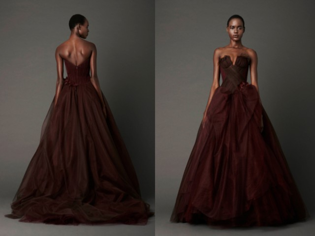 Photography: Dan Lecca | Dahlia strapless ballgown with notched neckline and lif