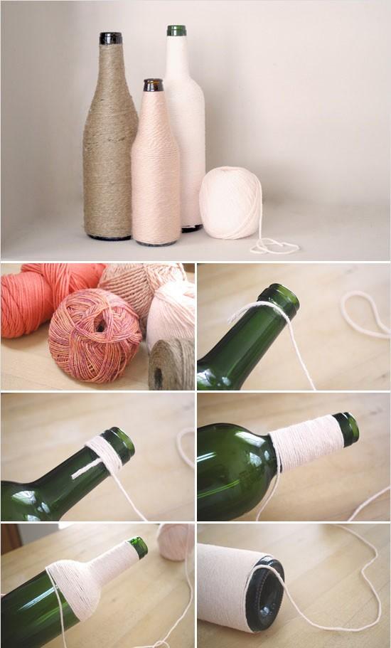 Как сделать ваза из бутылки